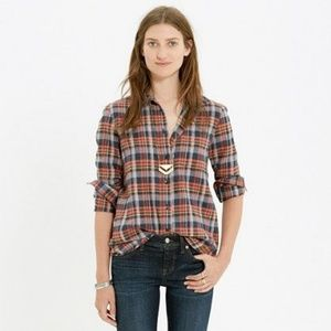 Madewell Boyfriend Plaid Flannel, Rose Tartan